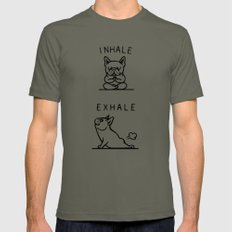 Inhale Exhale Frenchie Lieutenant Mens Fitted Tee MEDIUM