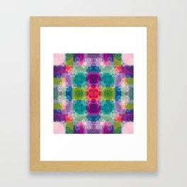 Doily Namaste Kaleidoscope Framed Art Print