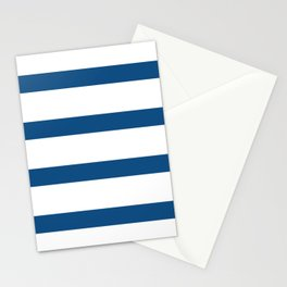 Classic Blue and White Nautical Stripes  Stationery Cards