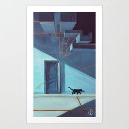 The door. Art Print