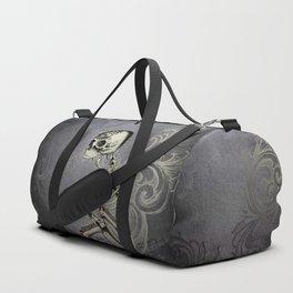 Gothic Skeleton Scroll Oddity Duffle Bag