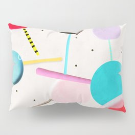 Lolli pop floating water waves and bubbles Pillow Sham