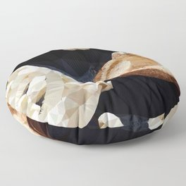 Mushrooms Low Poly Geometric Triangles Floor Pillow