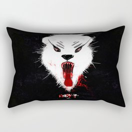 A White Lion. 白狮子 Rectangular Pillow