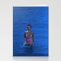 jenny liz rome Stationery Cards featuring Liz by POP Prints by FMcLaws