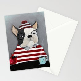 Waldo the Boston Terrier Stationery Cards