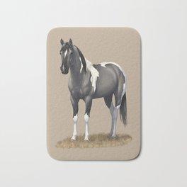 Grulla Paint Horse Bath Mat