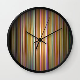 Colourful stripes pattern Wall Clock