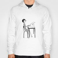 typewriter Hoodies featuring Typewriter by flapper doodle