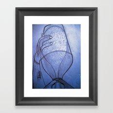 Beer bottle Framed Art Print