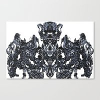 transformer Canvas Prints featuring Transformer Abstract by Carly And.