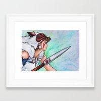 mononoke Framed Art Prints featuring Mononoke by Kimberly Castello