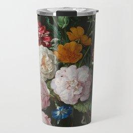 Still Life with Flowers by Jan Davidsz. de Heem Travel Mug