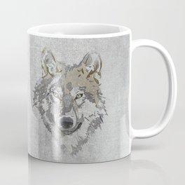 Wolf Head Illustration Coffee Mug