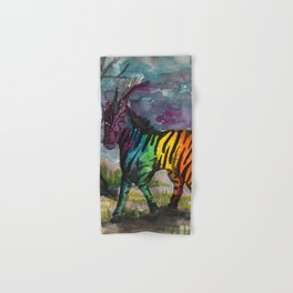 unicorn zebra Hand & Bath Towel