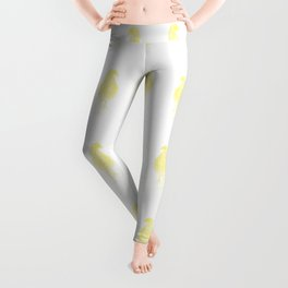 chick drawing, yellow Leggings