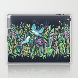 Little Garden Birds in Watercolor Laptop & iPad Skin