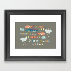 Fish Clouds Framed Art Print