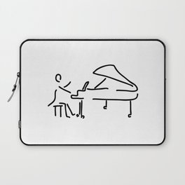 pianist musician plays the piano Laptop Sleeve