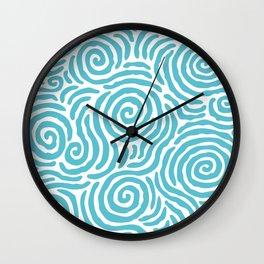 Ripple Effect Pattern Light Blue Wall Clock