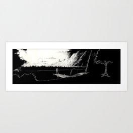 Navriss on the Lake of Dreams Art Print