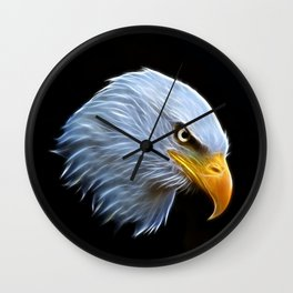 Fractal Bald Eagle Wall Clock