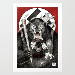 Inglourious Basterds (Quentin Tarantino) The Bear Jew Art Print