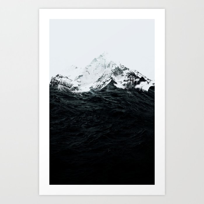 Discover the motif THOSE WAVES WERE LIKE MOUNTAINS by Robert Farkas as a print at TOPPOSTER