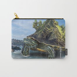 Giant Turtle Island on a Beach Carry-All Pouch