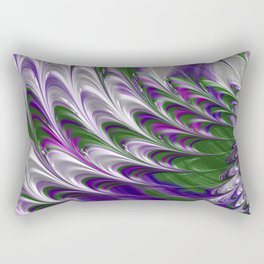Purple and Green Abstract Rectangular Pillow