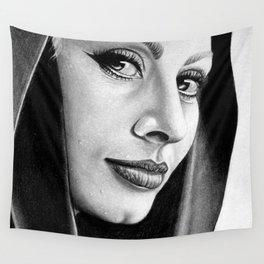 Sophia Loren Drawing By Faten  Wall Tapestry