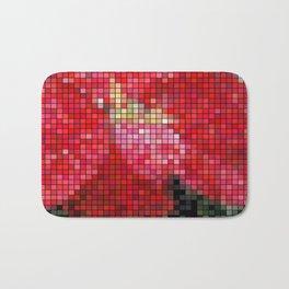 Mottled Red Poinsettia 2 Mosaic Bath Mat