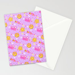 Usagi's Items Pattern / Sailor Moon  Stationery Cards