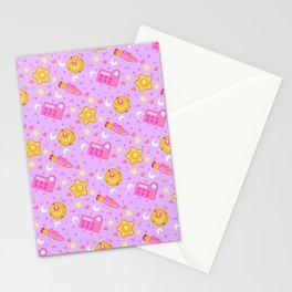 Usagi's Items Pattern / Sailor Moon  Stationery Cards