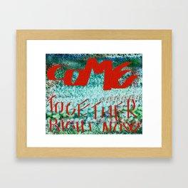 Come Togheter. Framed Art Print