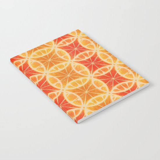 Orange Slice Pattern Notebook