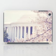 Cherry Blossoms at the Jefferson Memorial Washington DC iPad Case