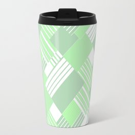 Light green geometric pattern Travel Mug