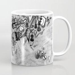 world map music black and white Coffee Mug
