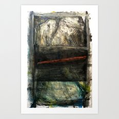 Draw The Line (oil on canvas) Art Print