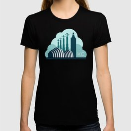 Kansas City in the Clouds - Blue T-shirt