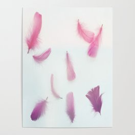 Cotton Candy and Pink Lavender Feathers Poster