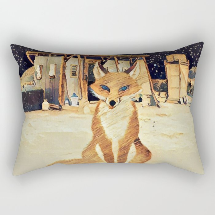 Little fox Rectangular Pillow