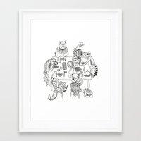 community Framed Art Prints featuring Community  by Alexa Roberts