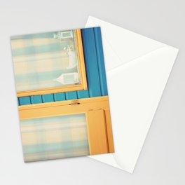 Beach Hut window- orange Stationery Cards