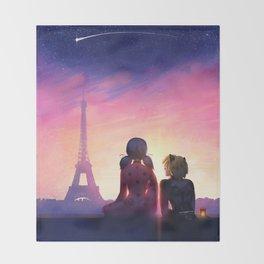 Miraculous in Paris Throw Blanket