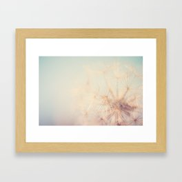 dandelion dreams .... Framed Art Print