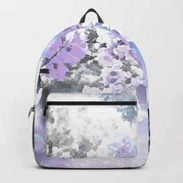 Watercolor Floral Lavender Teal Gray Backpack