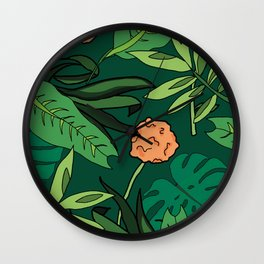 Deep In The Jungle... Wall Clock