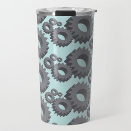 Mechanical cogwheels in 3D Travel Mug